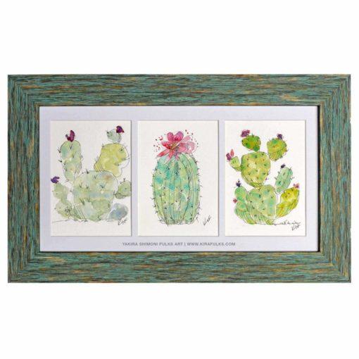 BARBARY FIGS-Watercolors ©Yakira Shimoni Fulks—Kira Art and Poetry