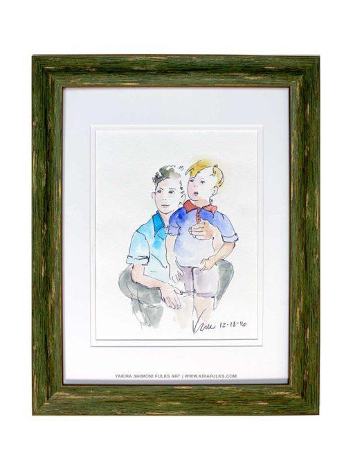 BROTHERS-Watercolors ©Yakira Shimoni Fulks—Kira Art and Poetry