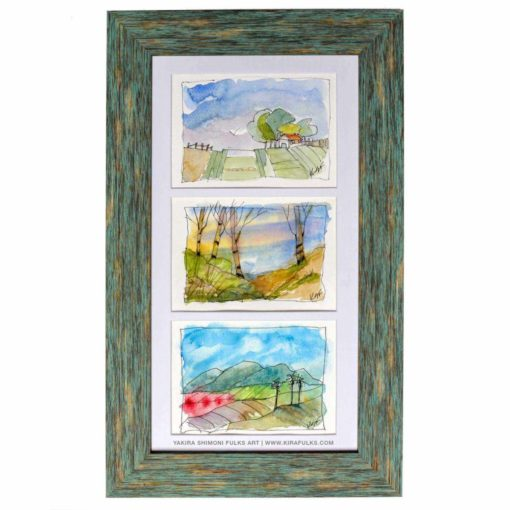 Cali Valley-Watercolors ©Yakira Shimoni Fulks—Kira Art and Poetry