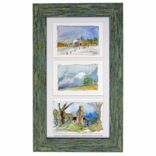 EVEN CHILLER-Landscape Watercolors ©Yakira Shimoni Fulks—Kira Art and Poetry