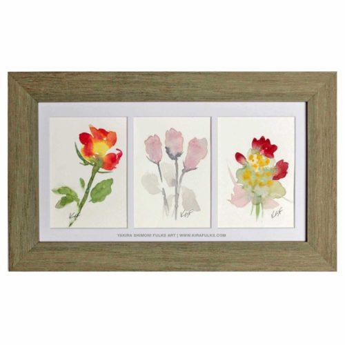 FLOWERETS-Watercolors ©Yakira Shimoni Fulks—Kira Art and Poetry