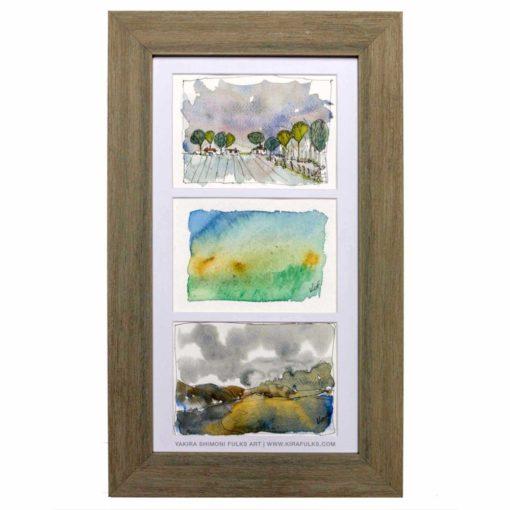 GRAY DAYS-Landscape Watercolors ©Yakira Shimoni Fulks—Kira Art and Poetry
