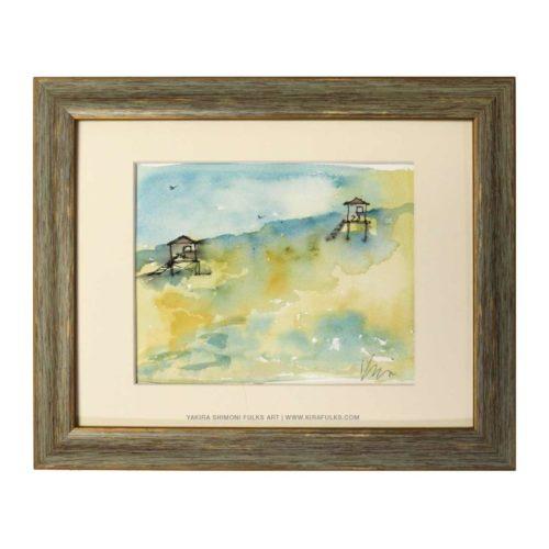 HIGH TIDE-Watercolors ©Yakira Shimoni Fulks—Kira Art and Poetry