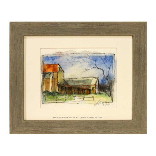 MICHIGAN ON MY MIND-Farmhouse Watercolors ©Yakira Shimoni Fulks—Kira Art and Poetry