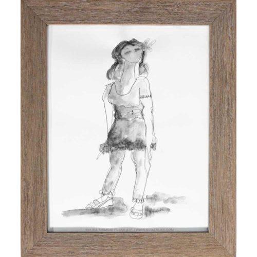 MOODY MINDY-Watercolors ©Yakira Shimoni Fulks—Kira Art and Poetry