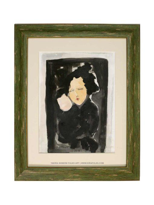 Mother and Child-1 Painting ©Yakira Shimoni Fulks—Kira Art and Poetry