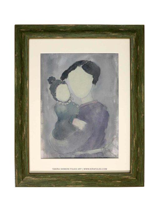 Mother and Child-3-MixMedia©Yakira Shimoni Fulks—Kira Art and Poetry