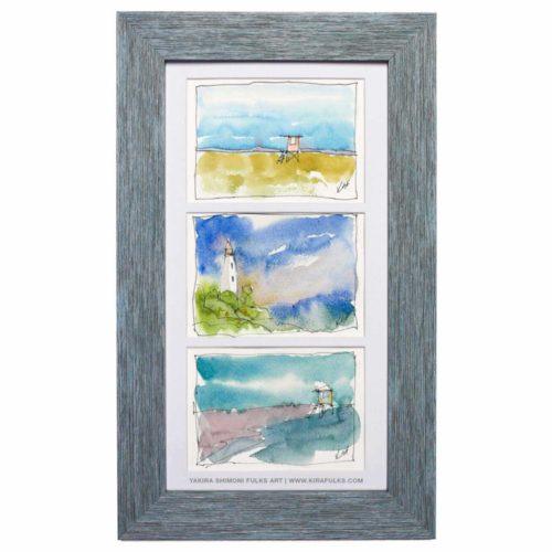 OH SEA-Watercolors ©Yakira Shimoni Fulks—Kira Art and Poetry