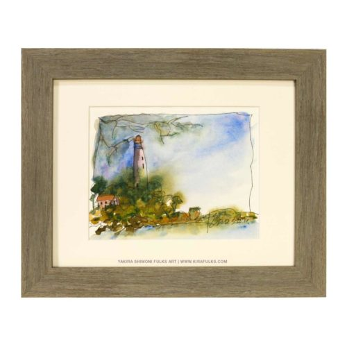 SAFE HAVEN-Lighthouse Watercolors ©Yakira Shimoni Fulks—Kira Art and Poetry