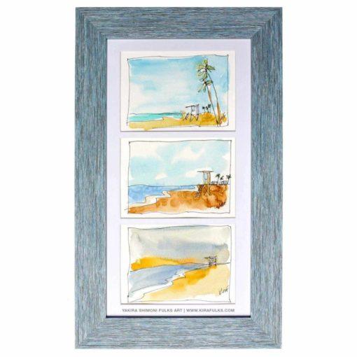 SEA SCAPE-Beach Watercolors©Yakira Shimoni Fulks—Kira Art and Poetry