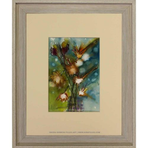 WINTER FLOWER-Watercolors©Yakira Shimoni Fulks—Kira Art and Poetry