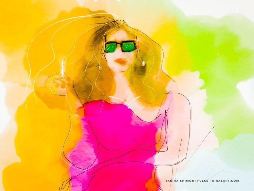 Smoking Hot-woman ©Yakira Shimoni Fulks—Kiras Art and Poetry