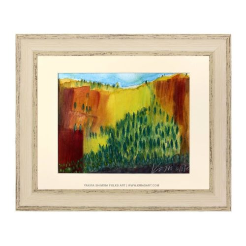 Yosemite watercolors©Yakira Shimoni Fulks—Kiras Art and Poetry