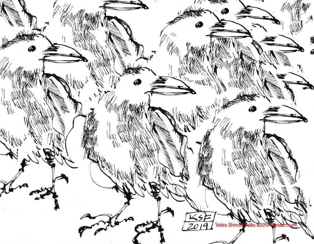 Sometimes-I-want-Crows©Yakira-Shimoni-Fulks—Kiras-Art-and-Poetry