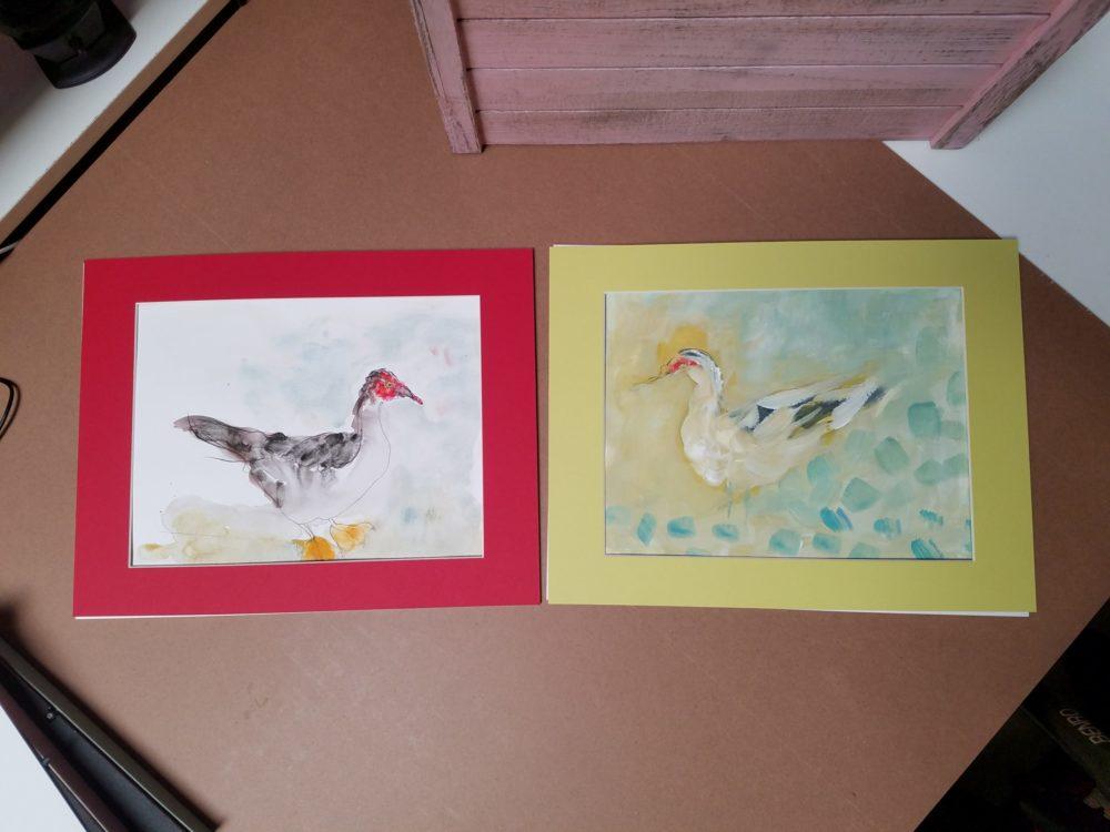 Ducks Watercolors ©Yakira Shimoni Fulks—Kiras Art and Poetry