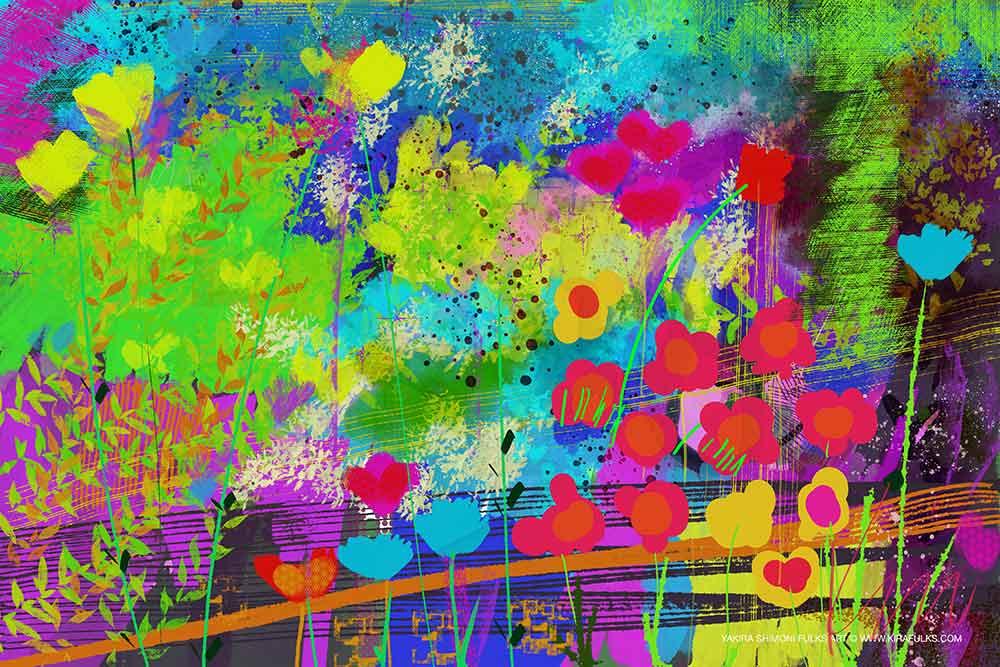 Wind Talking-Spring-Flowers ©Yakira Shimoni Fulks—Kira Art and Poetry
