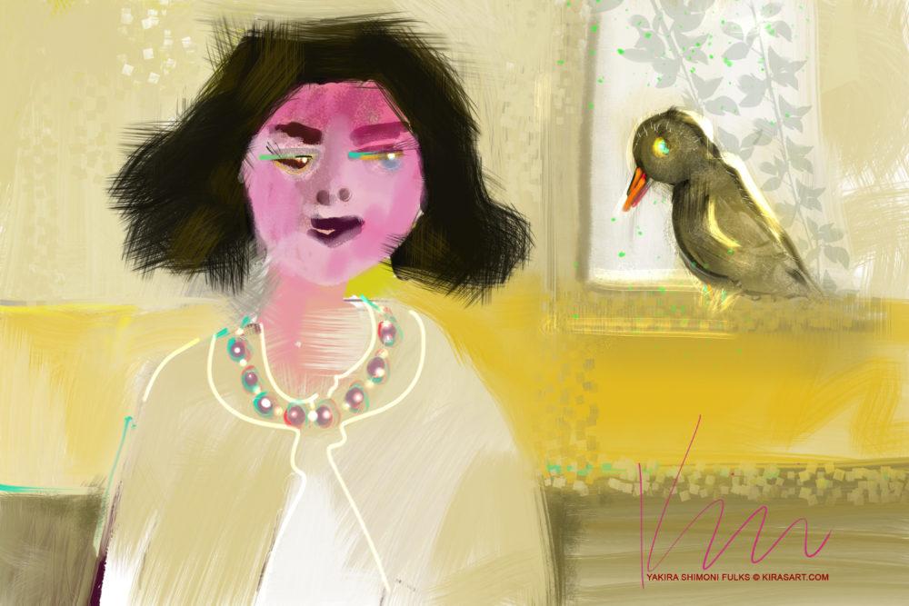 Morning Song- Woman Bird ©Yakira Shimoni Fulks—Kiras Art and Poetry