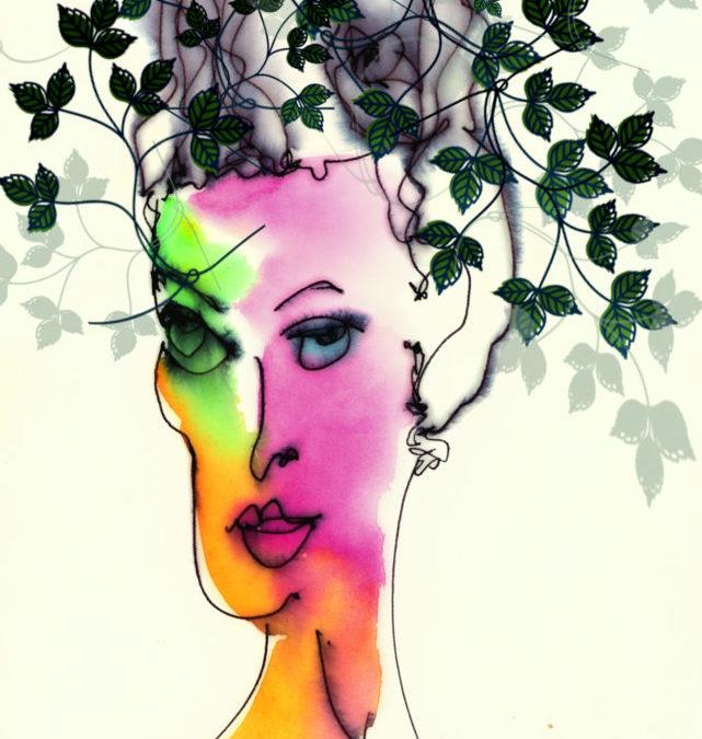 Poison Ivy-Mix Media©Yakira Shimoni Fulks—Kira Art and Poetry