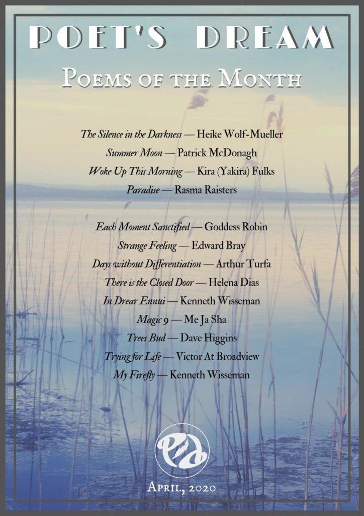Poets Dream Poem of The Month April 2020